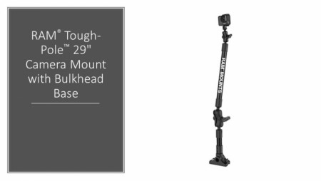 "RAM® Tough-Pole™ 29"" Camera Mount with Bulkhead Base"
